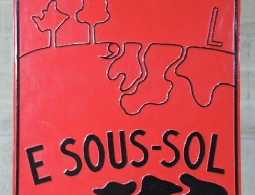 "Marcel Broodthaers ""E sous-sol"""