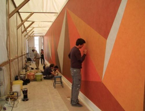 Re-creatie wall drawing in samenwerking met Sol Le Witt Estate