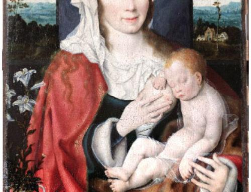 Restauratie Joos Van Cleve, Madonna Lactans
