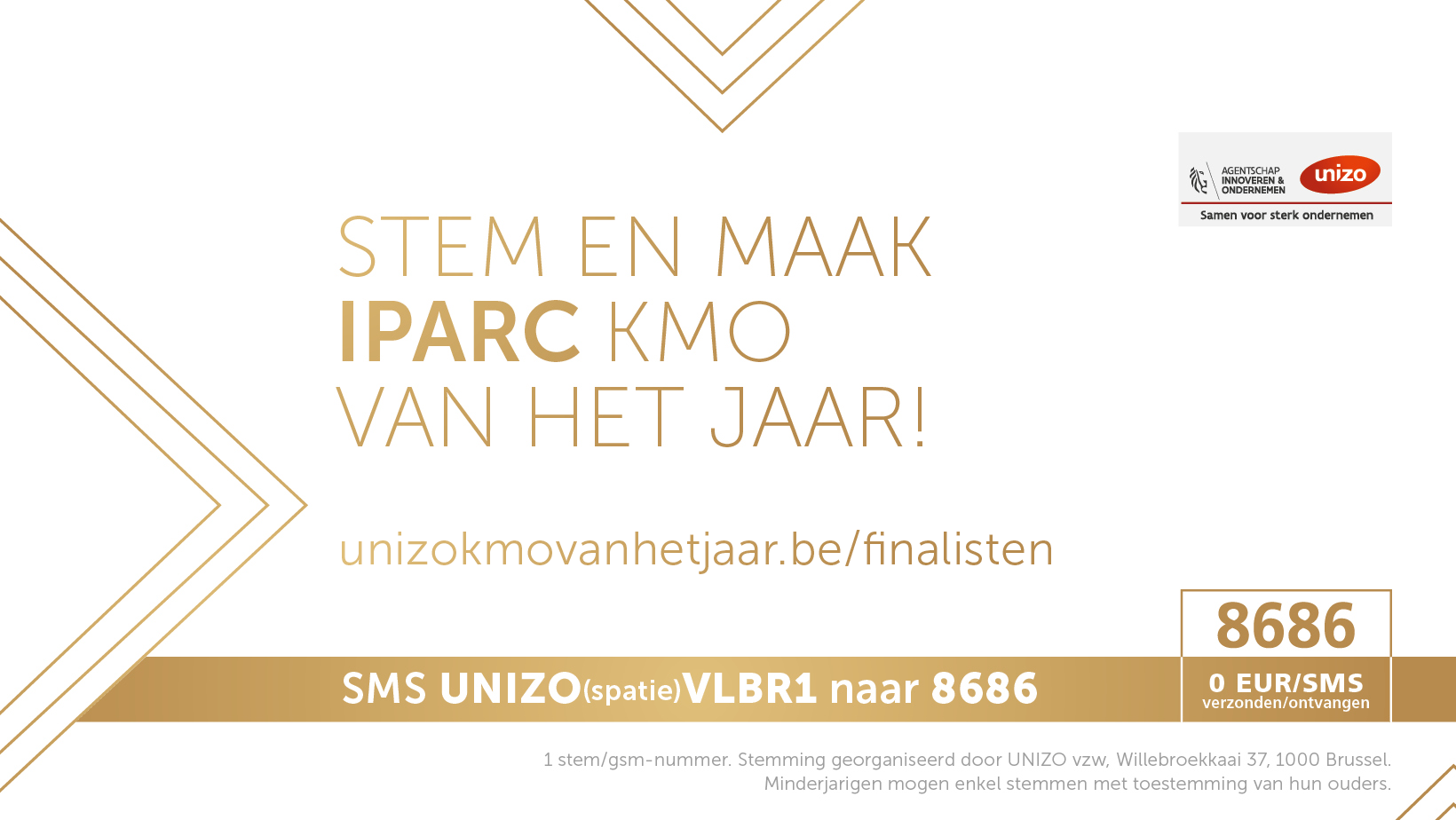 Stem en maak IPARC KMO van het jaar 2018!