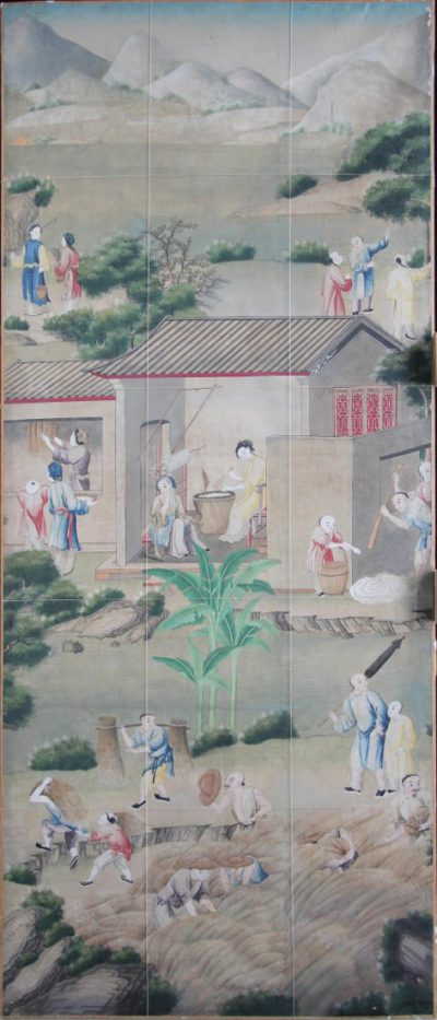 restauratie papier chinoiserie