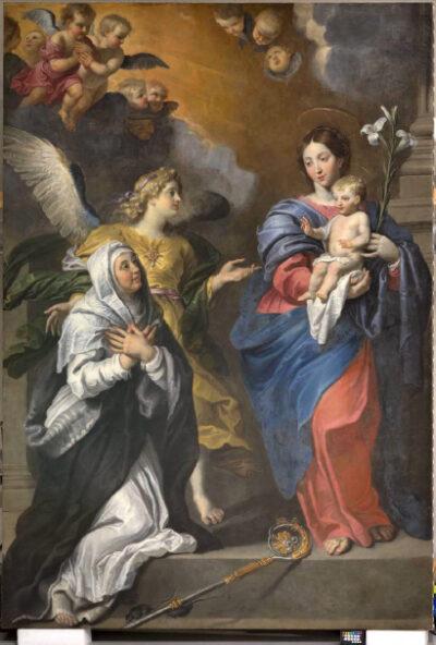 Gerard Seghers, Maagd met Kind verschijnt aan Sint-Gertrudis na restauratie
