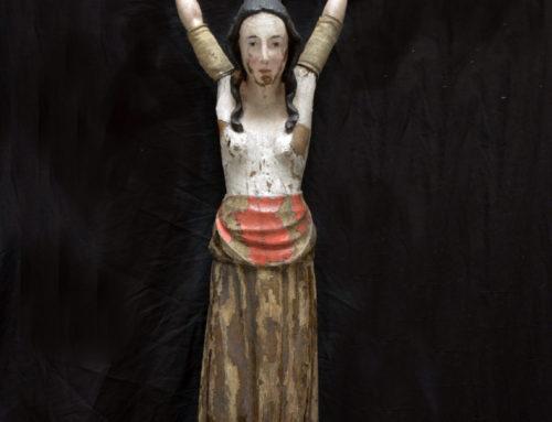 Restauratie sculptuur Wilgefortis, Hof van Busleyden