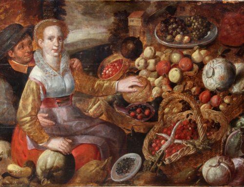 Restauratie schilderij Joachim Beuckelaer (atelier), Groentenverkoopster
