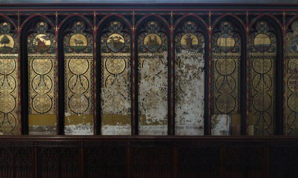 Restauratie van de lambrisering zijbeuk zuid Onze-Lieve-Vrouwe Kathedraal Antwerpen