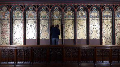 restauratie lambrisering kathedraal Antwerpen