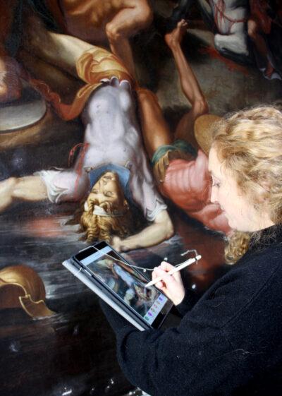virtuele opvolging live restauratie van kunst